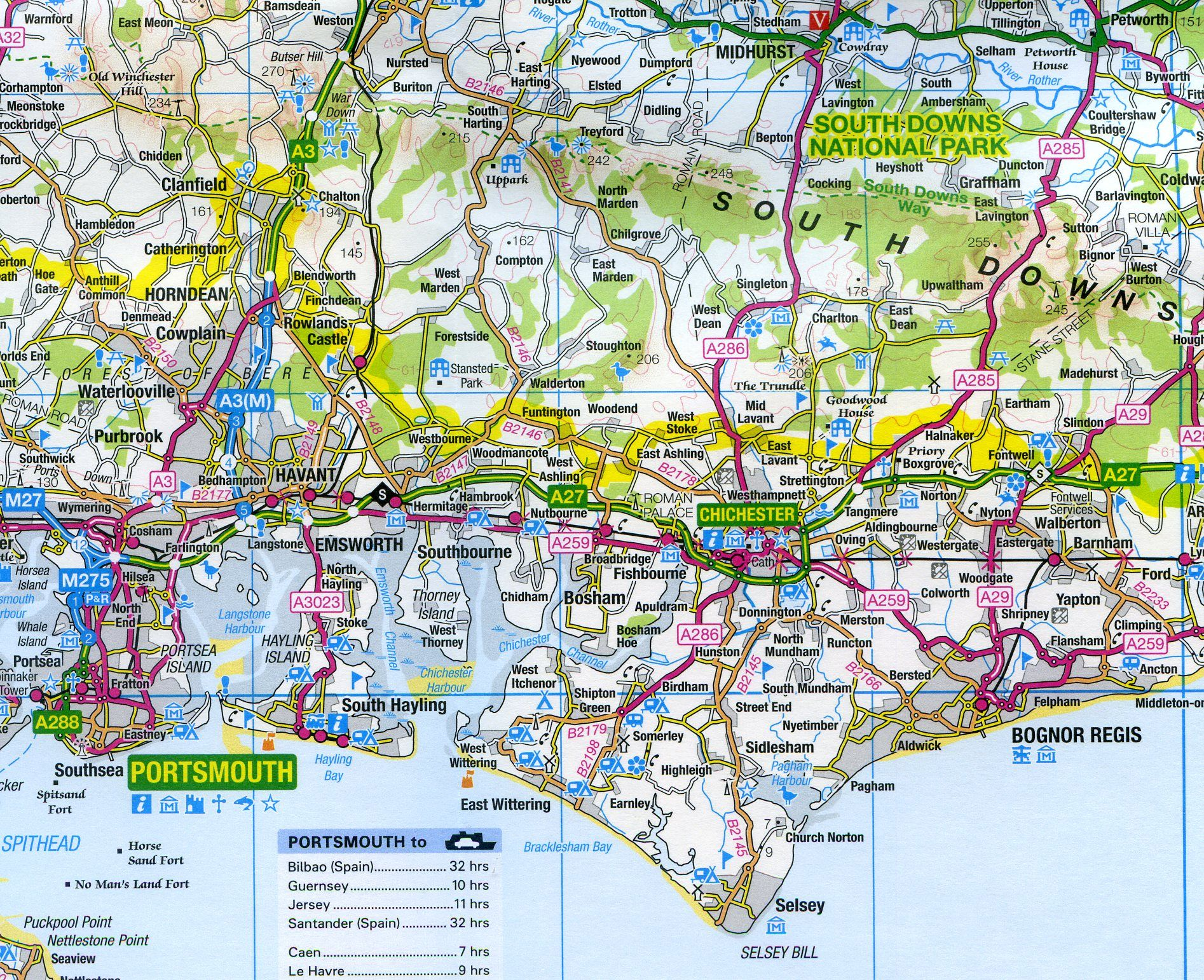 Survey Road Map 8 - South East England on